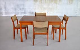 dining room modern danish varnished teak wood dining room table