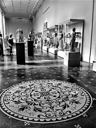 nyc nyc black and white mosaic tile floor of the and