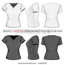 vector womens vneck tshirt design template stock vector 97604039