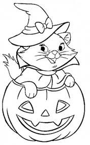 free printable jack o lantern coloring pages cute cat coming out of jack o lantern in halloween coloring pages