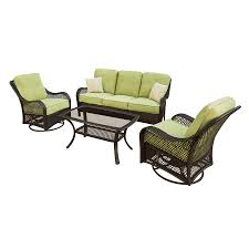 Lowes Patio Furniture Sets - shop hanover outdoor furniture orleans 4 piece wicker patio