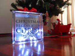 plum jam diy lighted glass block christmas decoration