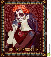 zombie halloween party invitations day of the dead skull woman with calavera makeup stock vector
