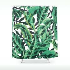 tropical shower curtain tropical glam banana leaf print shower curtain sea life tropical fish shower curtain