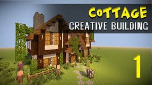 minecraft creative build modern house cottage part 1 youtube