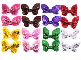 handmade hair bows 100pcs pet dog puppy cat hair bow with shining