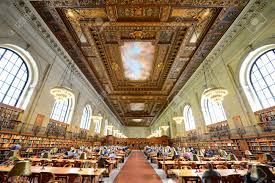 rose main reading room wide angle new york public library