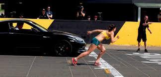 Nissan Gtr Yellow - nissan gt r vs olympic runner michelle jenneke shift u0027n u0027drive
