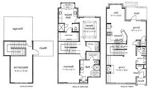 three story house plans home design with roof deck your decking
