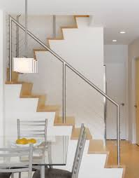 garde corps bois escalier interieur escalier et sa rampe inox garde corps net