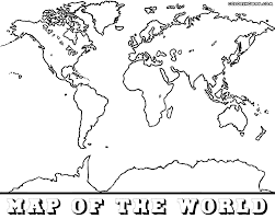 Map With Labels 3 World Map Coloring Page With Labels World Map Printable