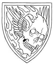 simple norse tattoo skull shield outline by vikingtattoo on deviantart