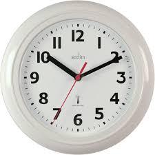 parona white radio controlled wall clock 23cm