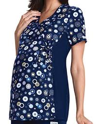 buy prints scrubs top discount price seasonal print