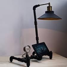 nordic industrial table lamp tablet stand u2013 the black steel
