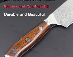 kitchen knives ratings kitchen 7 damascus santoku knife japanese vg10 steel kitchen
