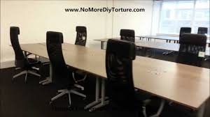 Ikea Office Ikea Office Furniture Galant Tables Youtube