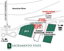 Sacramento State Campus Map by Gold Rush 50k General Information Sacramento Running Assiciation