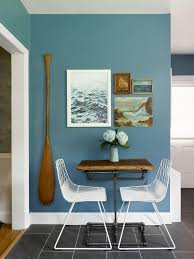gorgeous eat in kitchen area breakfast nook blue walls