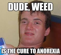 Anorexia Meme - dude weed is the cure to anorexia 10 guy quickmeme
