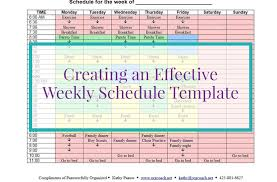 creating an effective weekly schedule template paauwerfully