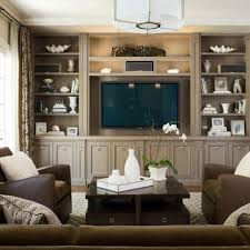 Family Room Design BuiltIns Painted A Dark Version Of Wall Color - Family room built in cabinets