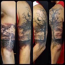 summer winter tree 1 2 sleeve tatting and leg