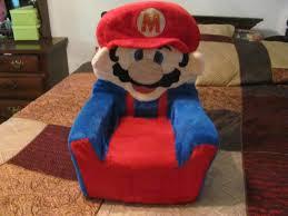 Toy Chair Super Mario Bros Vintage Toy Plush Chair Super Rare 1988 Game Life