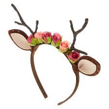 deer antlers and roses headband s ca