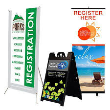 table banners and signs trade show displays trade show banners banner stands table