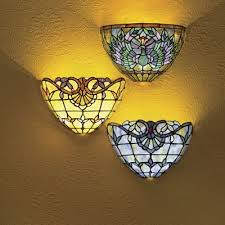 Wireless Wall Sconce Stained Glass Wireless Wall Sconce From Country Door 707054