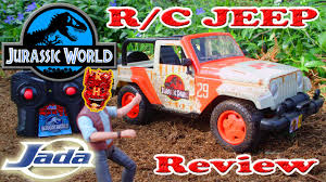 jurassic world jeep toy jada toys jurassic world r c jp jeep wrangler review youtube