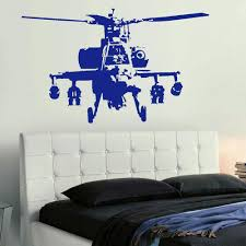 xtra large banksy helicopter wall art bedroom mural giant sticker xtra large banksy helicopter wall art bedroom mural giant sticker transfer decal vinyl wall art decals decorative wall stickers in wall stickers from home