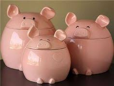 3 cute pigs kitchen canister set country kitchen decor canister