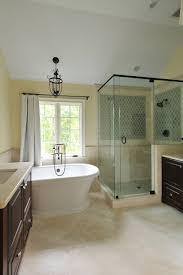 bathroom contemporary beige bathrooms with dark vanity and