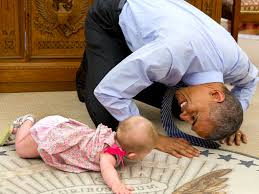 obama with kids photos business insider