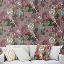 tropical design feature wallpaper for interior decor by gillian