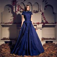 dh prom dresses cheap blue evening dresses ruffles pleats applique 2015 a