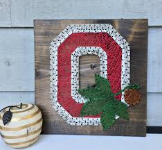 Osu Umbrellas by Ohio State String Art Block O Home Decor Osu