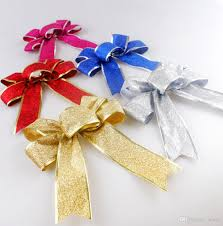 christmas tree decorations butterfly knot bowknot shining high