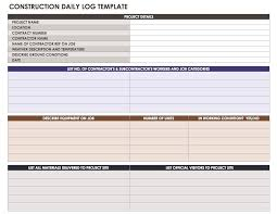 construction daily report template format template124