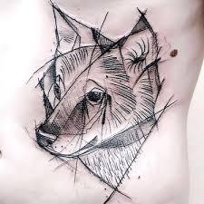 wolf tattoo behind ear bluebird tattoo behind ear