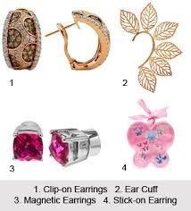 different types of earrings of earrings
