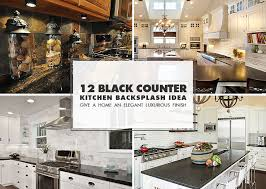 pictures of kitchen countertops and backsplashes black countertop backsplash ideas backsplash