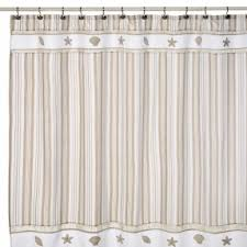 Fabric Shower Curtains With Valance Seashell Fabric Shower Curtain Foter