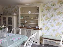 kitchen dresser laura ashley bramley and honeysuckle wallpaper
