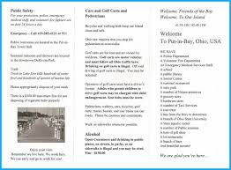 Put In Bay Ohio Map by Put In Bay Police Department Issues New Visitors Guide And Map