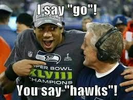 Super Bowl 48 Memes - 538 best go hawks images on pinterest football stuff