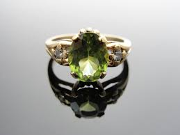 peridot engagement rings engagement ring vintage