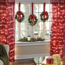 Brylane Home Christmas Decorations Pre Lit Curtain Panel Brylanehome